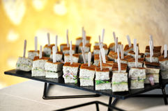 Appetizers on a buffet table Royalty Free Stock Image