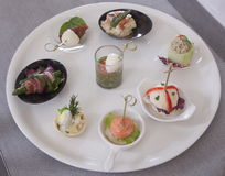 Appetizers canapes Royalty Free Stock Photo