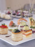 Appetizers canapes Stock Photography