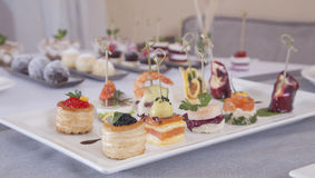Appetizers canapes Royalty Free Stock Image