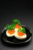 Appetizers with caviar Stock Photo