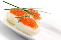 Appetizers with caviar Stock Photos