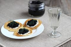Appetizers with caviar Royalty Free Stock Photo