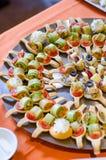 Appetizers- close up Stock Photos