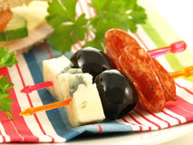 Appetizers, closeup Royalty Free Stock Images