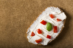 Appetizers with cream cheese Royalty Free Stock Photos