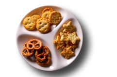 Appetizers in dish - top view Royalty Free Stock Photo
