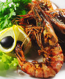 Appetizers - Grilled Shrimp Royalty Free Stock Image