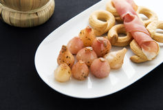 Appetizers lampascioni. The lampascione is a herbaceous plant and its bitter bulb is edible. Widespread in the southern Italian regions Royalty Free Stock Images