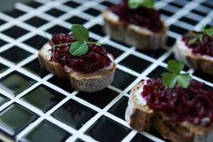 Appetizers in nordic style Royalty Free Stock Images