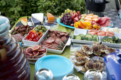 Appetizers on a party table. Some Appetizers on a party table Royalty Free Stock Photos