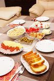 Appetizers and pastry Stock Images