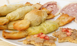Appetizers on a plate Stock Photography