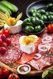 Appetizers platter Royalty Free Stock Image