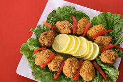 Appetizers on red Stock Photo