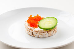 Appetizers with red fish and red caviar Stock Photography