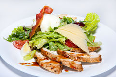 Appetizers, salads, first and second courses, soup Royalty Free Stock Photography