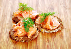 Appetizers with salmon Royalty Free Stock Photos