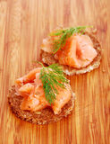 Appetizers with salmon Royalty Free Stock Images