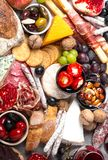Appetizers and snacks royalty free stock image