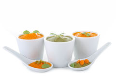 Appetizers and spoon vegetable Royalty Free Stock Photography