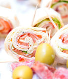 Appetizers at wedding table Royalty Free Stock Photos
