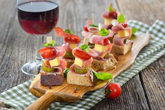 Appetizers With Bacon And Cheese Stock Photography