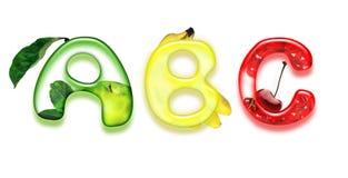 Appetizing alphabet Royalty Free Stock Image