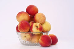 Appetizing apricots. In a glass bowl Stock Photo