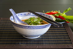 Appetizing Asian Food on White Bowl on Table Royalty Free Stock Photos