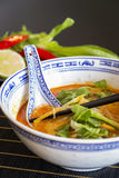Appetizing Asian Food on White Bowl on Table Stock Image