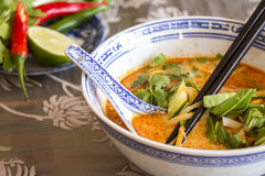 Appetizing Asian Food on White Bowl on Table Royalty Free Stock Images