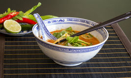 Appetizing Asian Food on White Bowl on Table Royalty Free Stock Photography