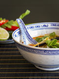 Appetizing Asian Food on White Bowl on Table Royalty Free Stock Image