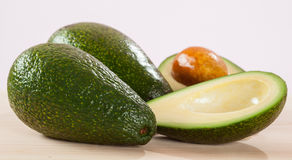 Appetizing Avocado On Wooden Table Royalty Free Stock Photography