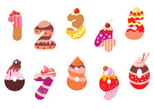 Appetizing bakery numbers Royalty Free Stock Photos