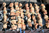 Appetizing barbecue on the fire Royalty Free Stock Photos