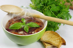 Appetizing bean soup Royalty Free Stock Images