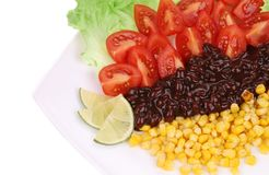 Appetizing beans salad. Close up. Stock Photography