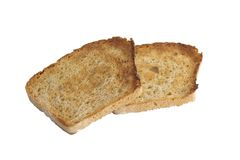Appetizing bread isolated. On a white background Stock Photos