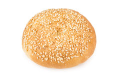 Appetizing bun sprinkled with sesame seeds Royalty Free Stock Photos
