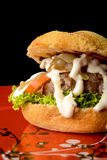 Appetizing burger Royalty Free Stock Image