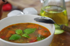 Appetizing cabbage soup Stock Photo