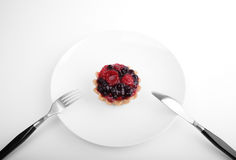 Appetizing cake. Tasty cake with fresh berries stock photos