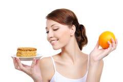appetizing cake healthy holding orange woman Στοκ εικόνα με δικαίωμα ελεύθερης χρήσης