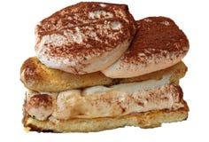 Tiramisu cake with mascarpone cream and Savoiardi royalty free stock image