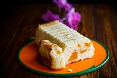 Appetizing Casserole Cottage Cheese Stock Photo
