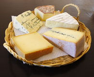 Appetizing cheese platter Stock Photo