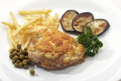 Appetizing chicken with garnish Royalty Free Stock Images