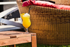Appetizing cocktail with pineapple Royalty Free Stock Images